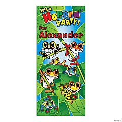 Personalized Frogs Party Door Cover
