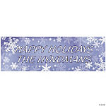Personalized Snowflake Banner - Small