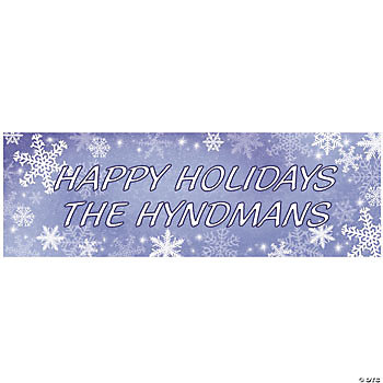 Personalized Snowflake Banner - Medium