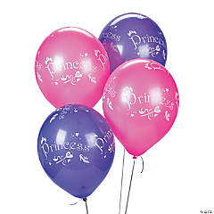 "Lavender & Pink ""Princess"" Latex Balloons"