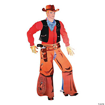 Large Jointed Cowboy Cutout