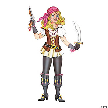 Large Jointed Pirate Girl CutOut