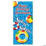 Personalized Swimming Pool Party Door Cover
