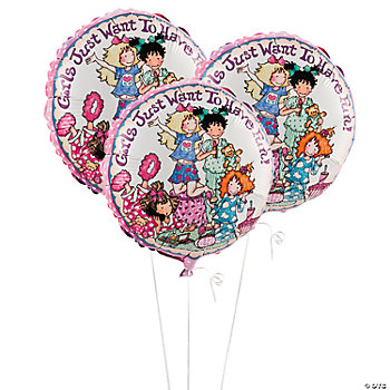 Slumber Party Mylar Balloons