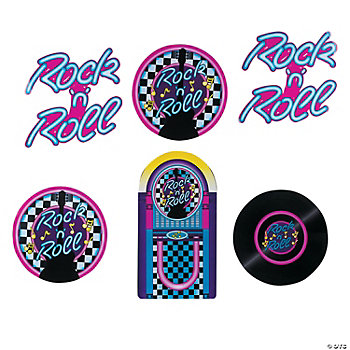 """Rock 'N' Roll"" Cutouts"