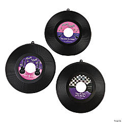 Plastic Hanging Record Decorations