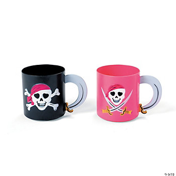 Pink Pirate Girl Mugs