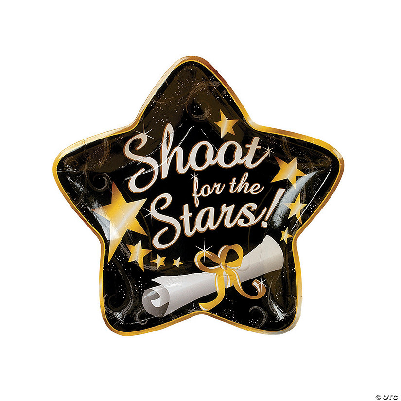 Shoot For the Stars Star-Shaped Paper Plates  sc 1 st  Oriental Trading & For the Stars Star-Shaped Paper Plates