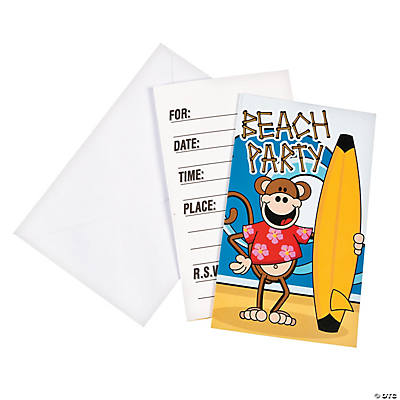 Beach Monkey Invitations