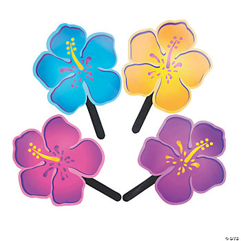 12 Hibiscus-Shaped Fans