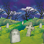 Design-A-Room Cemetery Trees Background