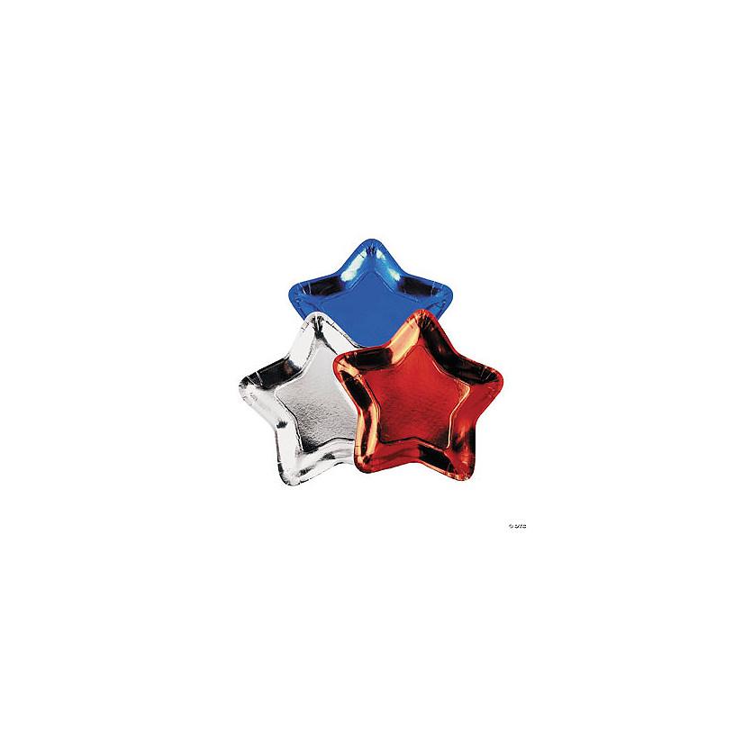 Star-Shaped Metallic Paper Plates  sc 1 st  Oriental Trading & Star-Shaped Metallic Paper Plates - Discontinued