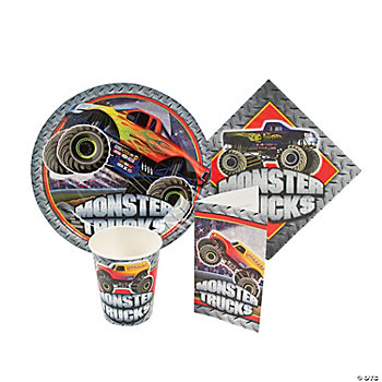 Monster Trucks Tableware And Invites