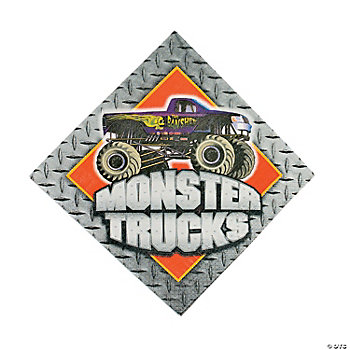 Monster Trucks Luncheon Napkins