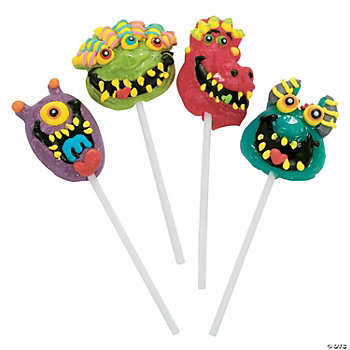 12 Frosted Monster Bash Suckers