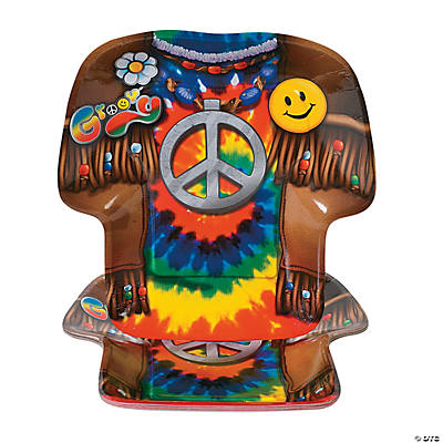 '60s Groovy Party Shirt-Shaped Plates