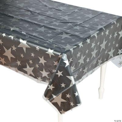 Clear Star Print Tablecloth