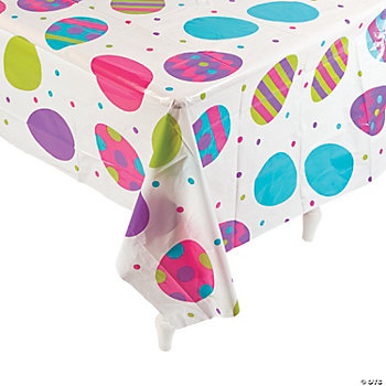 Clear Egg Print Table Cover