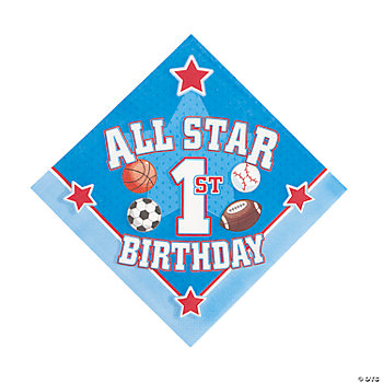 All Star 1st Birthday Luncheon Napkins