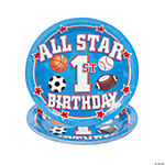 All Star 1st Birthday Dessert Plates