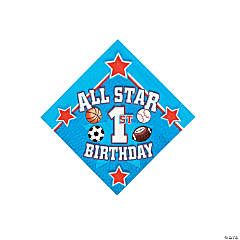 All Star 1st Birthday Beverage Napkins