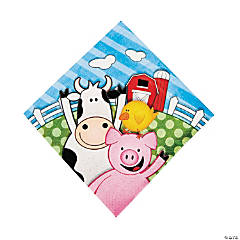 Farm 1st Birthday Luncheon Napkins