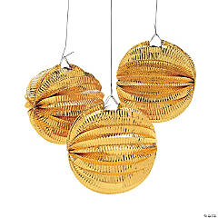 Metallic Gold Paper Balloon Lanterns
