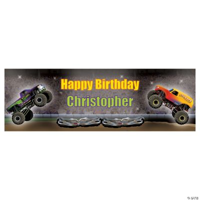 Personalized Monster Trucks Banner - Small