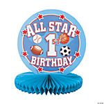 All Star 1st Birthday Centerpiece