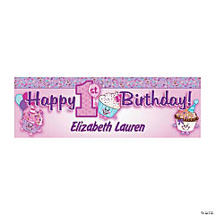 Personalized 1st Birthday Cupcake Banner - Small
