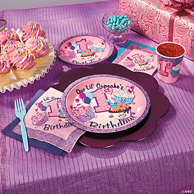 1st birthday cupcake basic party pack tableware sets for 1st birthday party decoration packs