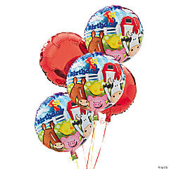 8 Piece Farm 1st Birthday Balloon Set