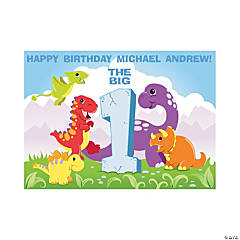 Personalized Dinosaur 1st Birthday Yard Sign