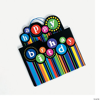 6 Birthday Pattern Gift Card Holders