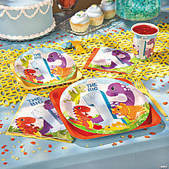 Dinosaur 1st Birthday Basic Party Pack