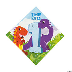 1st Dinosaur Birthday Luncheon Napkins