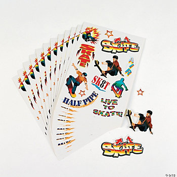 Skateboarding Sticker Sheets