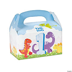 Dinosaur 1st Birthday Unfilled Treat Boxes