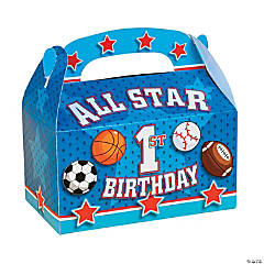 """All Star 1st Birthday"" Treat Boxes"
