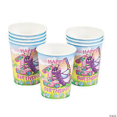 Butterfly 1st Birthday Cups