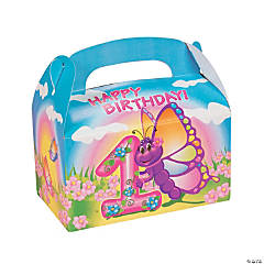 Butterfly 1st Birthday Treat Boxes