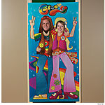 Hippie Couple Photo Door Banner