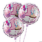 1st Birthday Cupcake Balloon Set