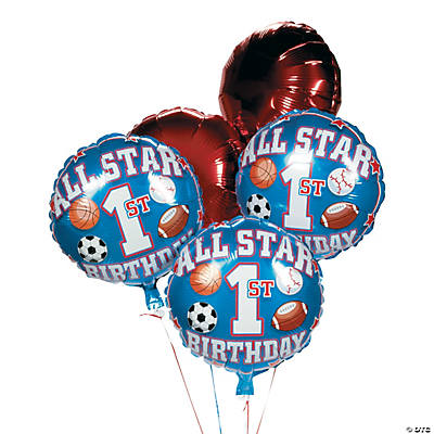 All Star 1st Birthday Balloon Set