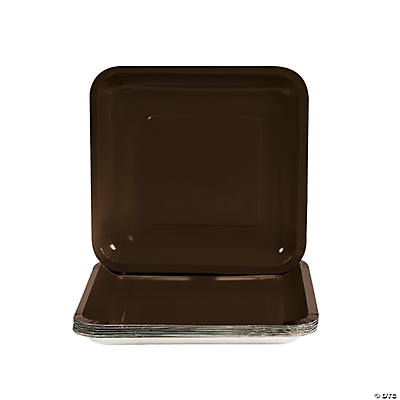 Brown Square Dessert Plates