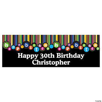 Personalized Birthday Dots Banner - Small