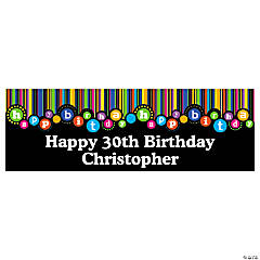 Personalized Birthday Dots Banner - Medium