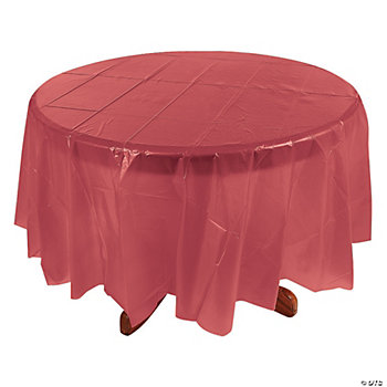 Round Table Cover - Burgundy
