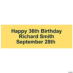 Personalized Solid Yellow Banner - Small