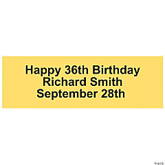 Personalized Solid Yellow Banner - Medium